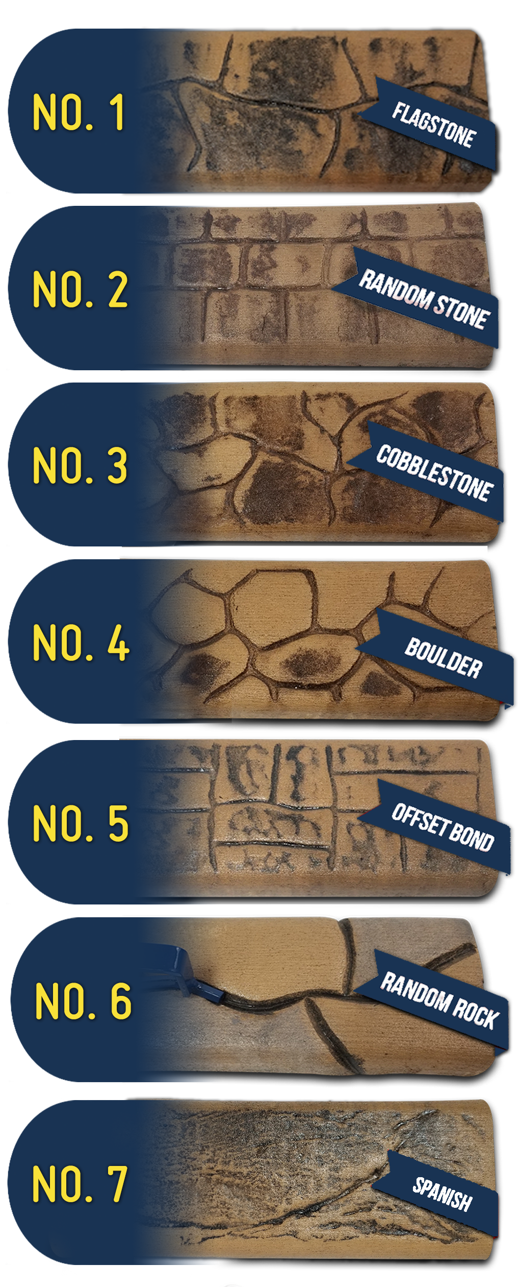 concrete curb stamp options